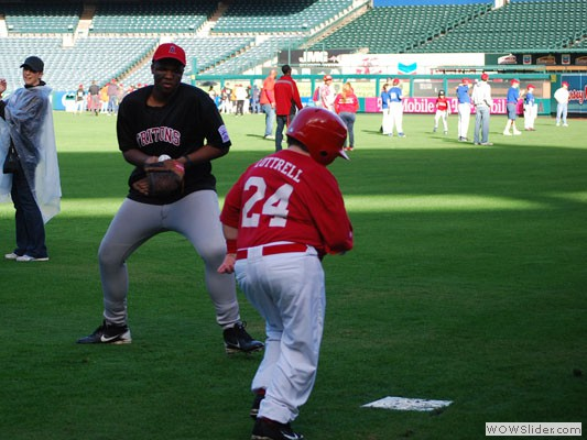 Challenger baseball at Angel Stadium